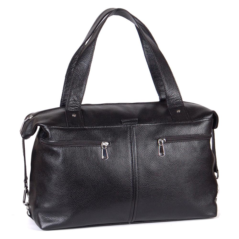Женская кожаная сумка 43 черный флотар 01430101