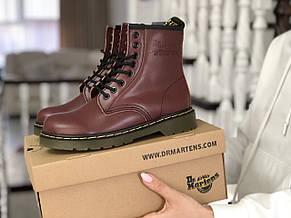 Женские зимние ботинки Dr. Martens,кожаные,марсала (темно бордовые), фото 3