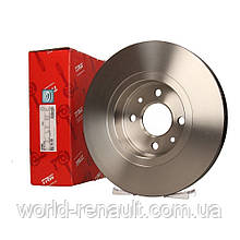 Передний тормозной диск 280мм на Рено Каптюр / TRW DF4110
