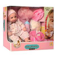 Кукла Пупс 32см,горшок-звук+свет, бутылочка 2шт, подгузник, пьет-писает, на батарейке,в коробке