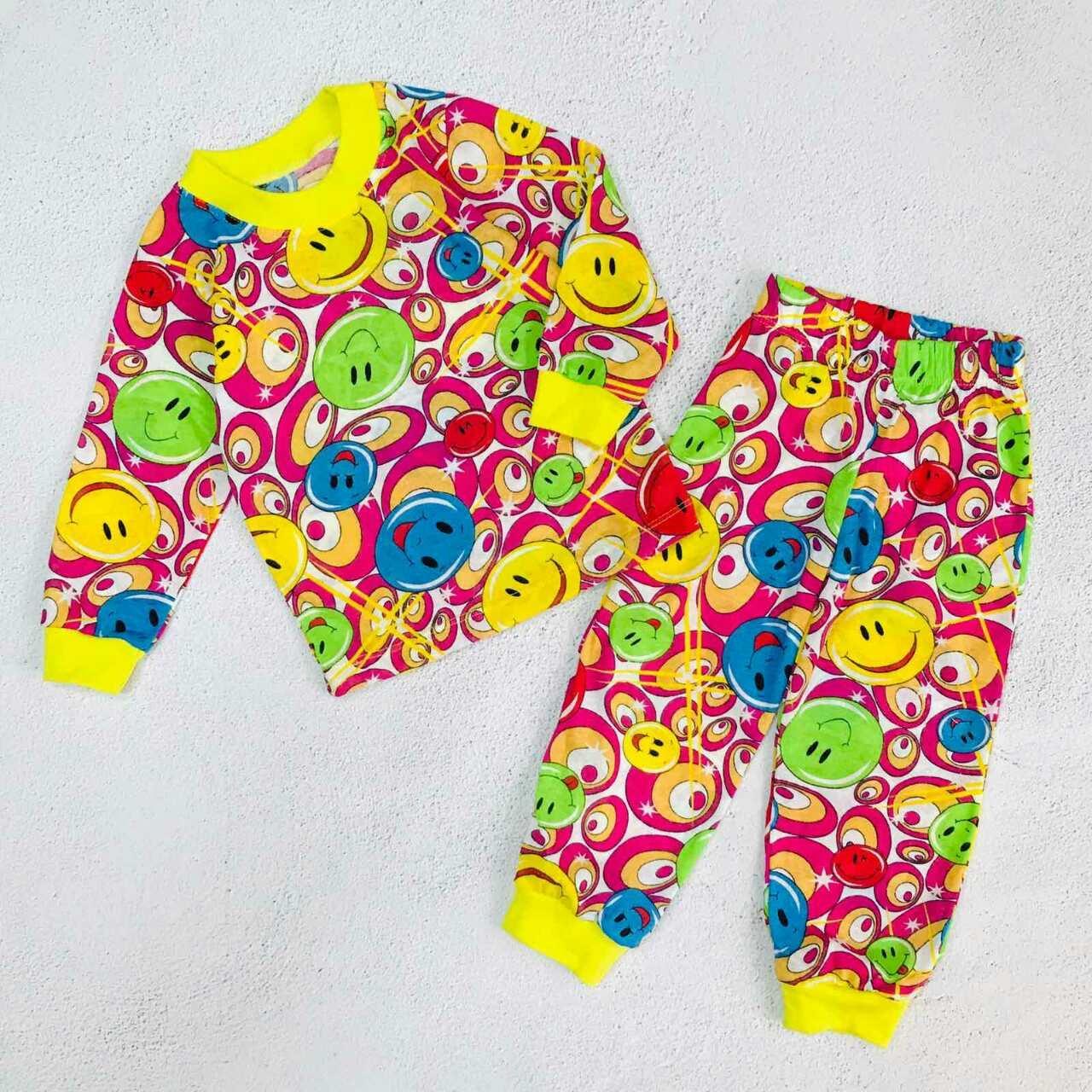 """Пижама детская """"Смайлик"""", цвет: малиновый"""