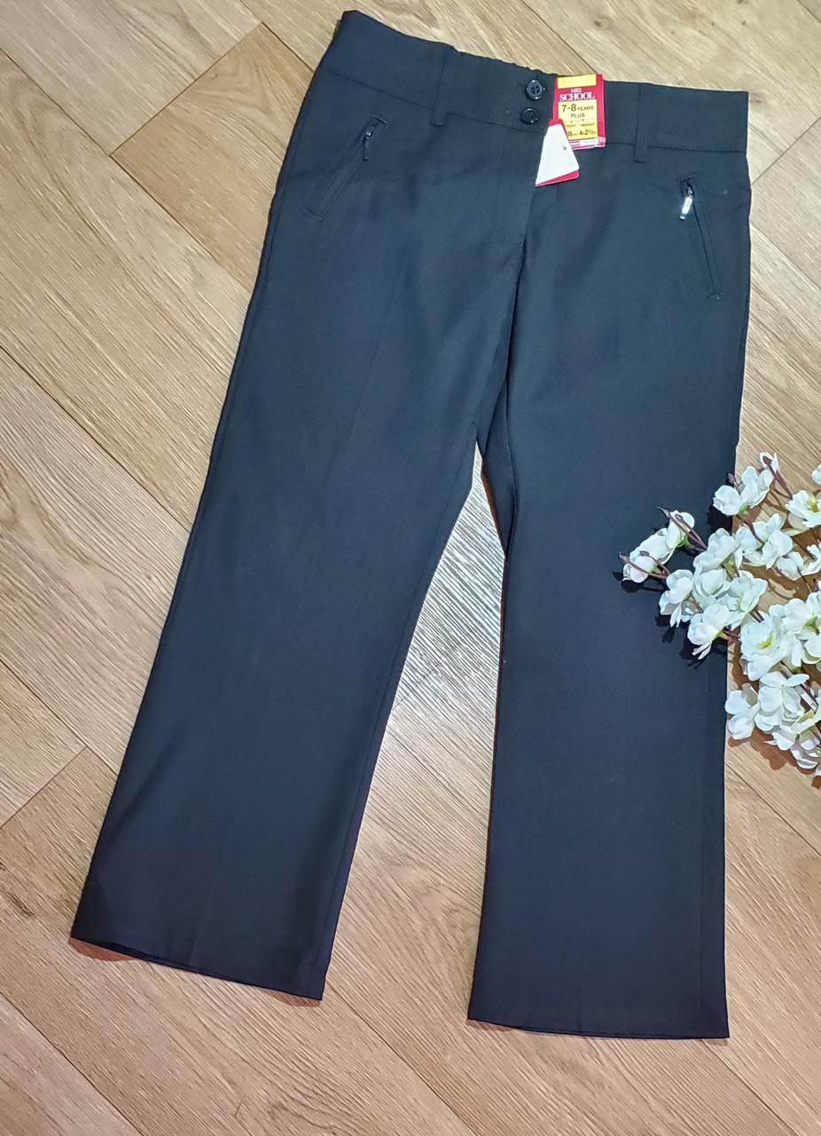 Стильные черные школьные брюки на девочку Marks&Spencer Оригинал (Размер  7-8 лет)
