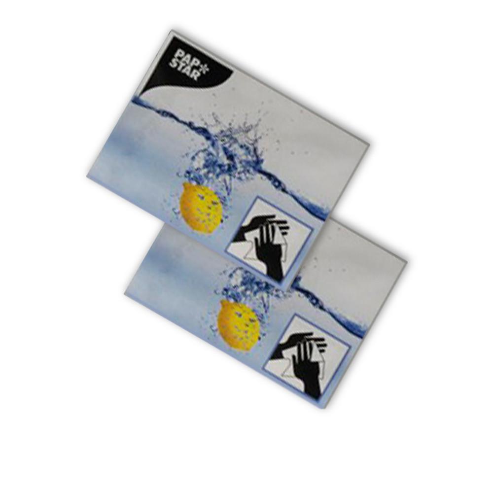 Влажная одноразовая салфетка для рук и лица в индивидуальной упаковке 250 шт/ящ ТМ PapStar