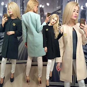 Пальто женское демисезонное кашемировое /разные цвета, 42-46, ft-235/