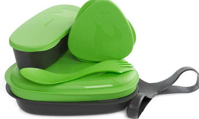 Набір посуду LIGHT MY FIRE LunchKit (6 предметів), зелений