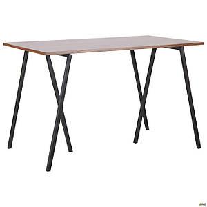 Стол обеденный Роберто DT-1720 черный/МДФ орех TM AMF