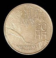 """Монета Норвегии 20 крон 2014 г. """"200 лет Конституции"""""""