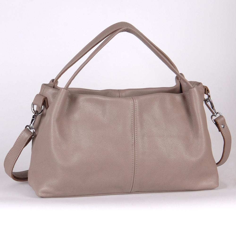 Женская кожаная сумка 16 капучино флотар 01160109