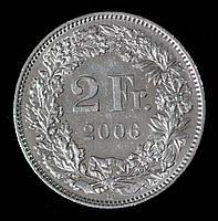 Монета Швейцарии 2 франка 2006 г., фото 1