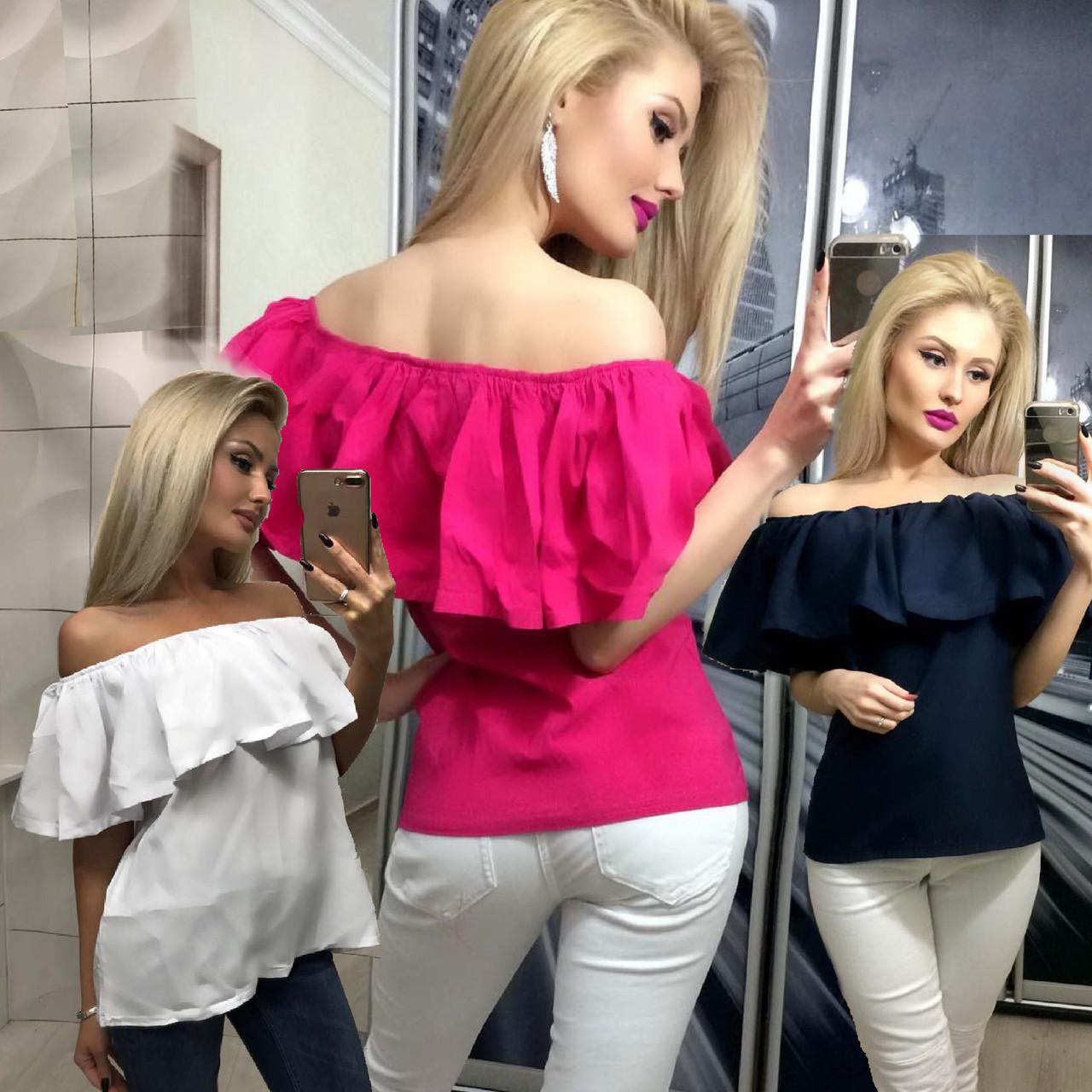 Летняя кофта женская с приспущенными плечами /разные цвета, 42-46, ft-258/