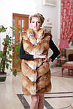 Шуба  жилет из лисы  Fox  fur coat and vest, фото 5
