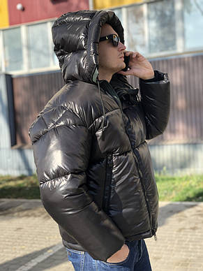 Тёплая мужская куртка с капюшоном KTL T-362 черная, фото 2