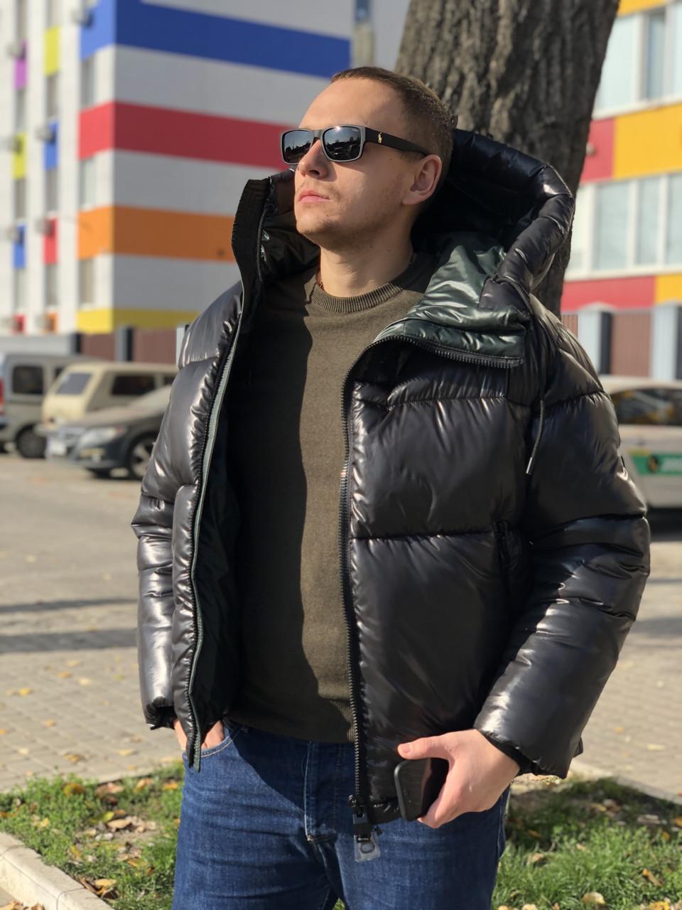 Тёплая мужская куртка с капюшоном KTL T-362 черная