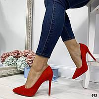 Туфли лодочки женские красные Stella443