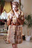 Шуба меховое пальто полушубок жилет из лисы  Fox  fur coat and vest, фото 1