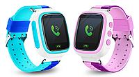Смарт-часы Q80 1.44 для детей (голубой) Идея подарка!