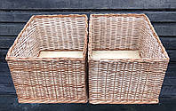 Корзины (лотки) плетеные для хранения 60x40 см. с высотой борта 30 см.