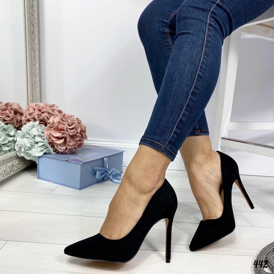 Туфли лодочки женские черные Stella 442, фото 1