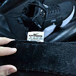 Зимние мужские кроссовки Nike Huarache X Acronym City Winter black white с мехом теплые. Живое фото. Реплика, фото 2