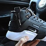 Зимние мужские кроссовки Nike Huarache X Acronym City Winter black white с мехом теплые. Живое фото. Реплика, фото 7