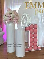 Тубусы, тумбы, колоны на свадьбу, свадебные стойки