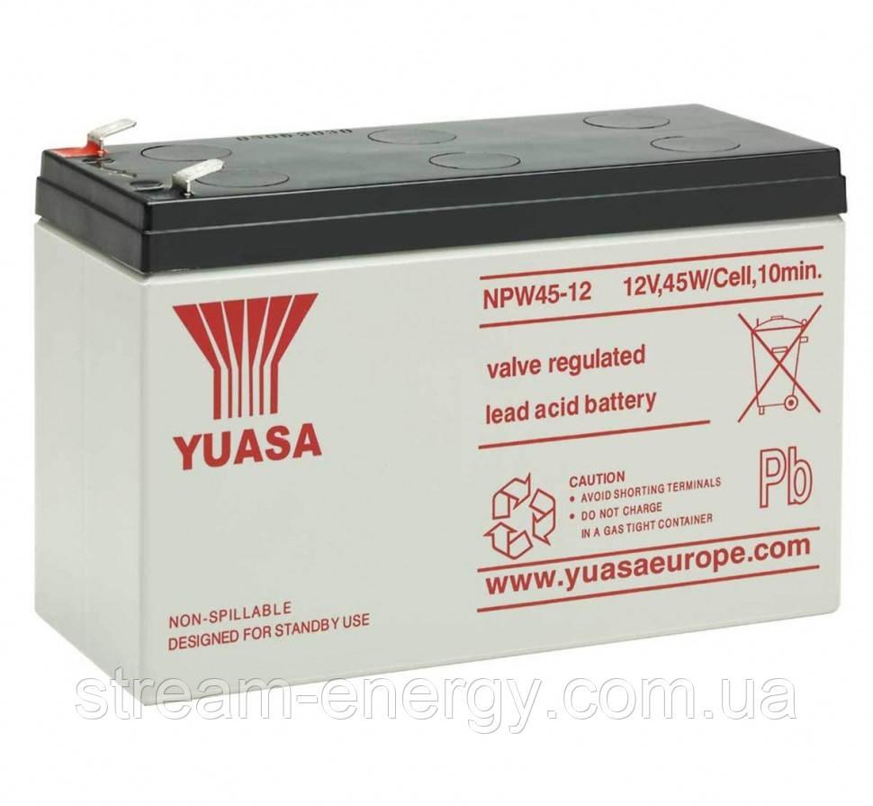 Аккумулятор для ИБП Yuasa (12В - 9Ач) NPW45-12