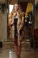 Шуба жилет из лисы, рукава съемные на молнии , фото 1