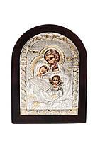 Икона Святое Семейство Серебряная с позолотой AGIO SILVER (Греция)  150 х 200 мм