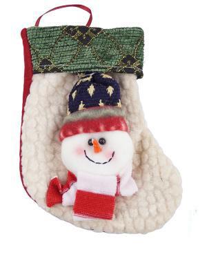 Сапожок для подарков (Снеговичок белый) Идея подарка!