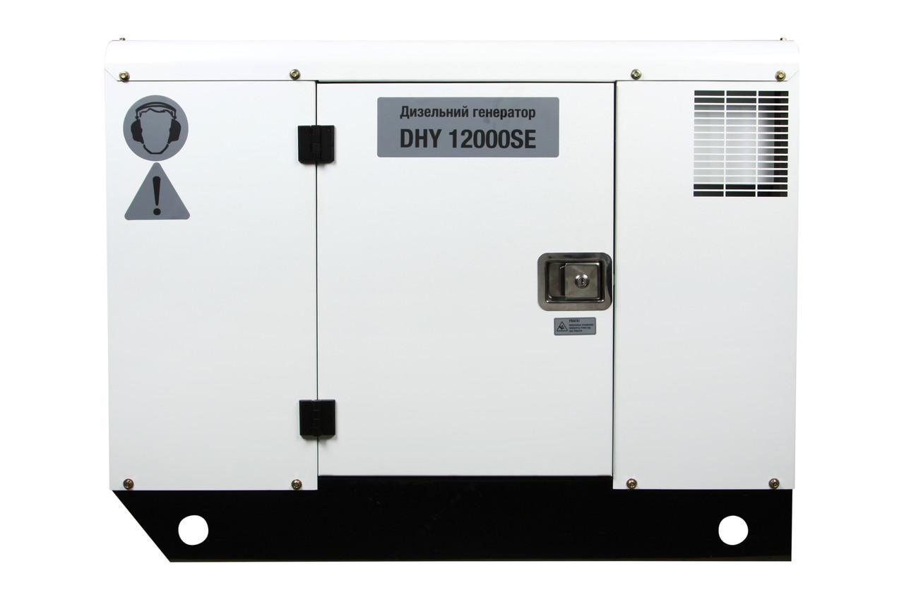 Однофазный дизельный генератор Hyundai DHY 12000SE (11 кВт)