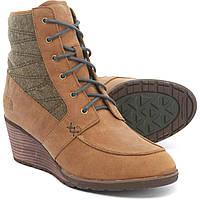 Ботинки The North Face Bridgeton Wedge Lace-Up - Waterproof Cork Brown/Hawk Green  - Оригинал