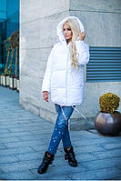 Зимняя курточка белоснежная Зефирка