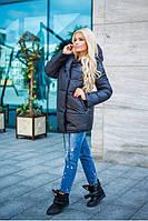 Зимняя чёрная курточка Зефирка