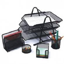 Офисный настольный набор метал. сетка черный (5 предметов) DGG