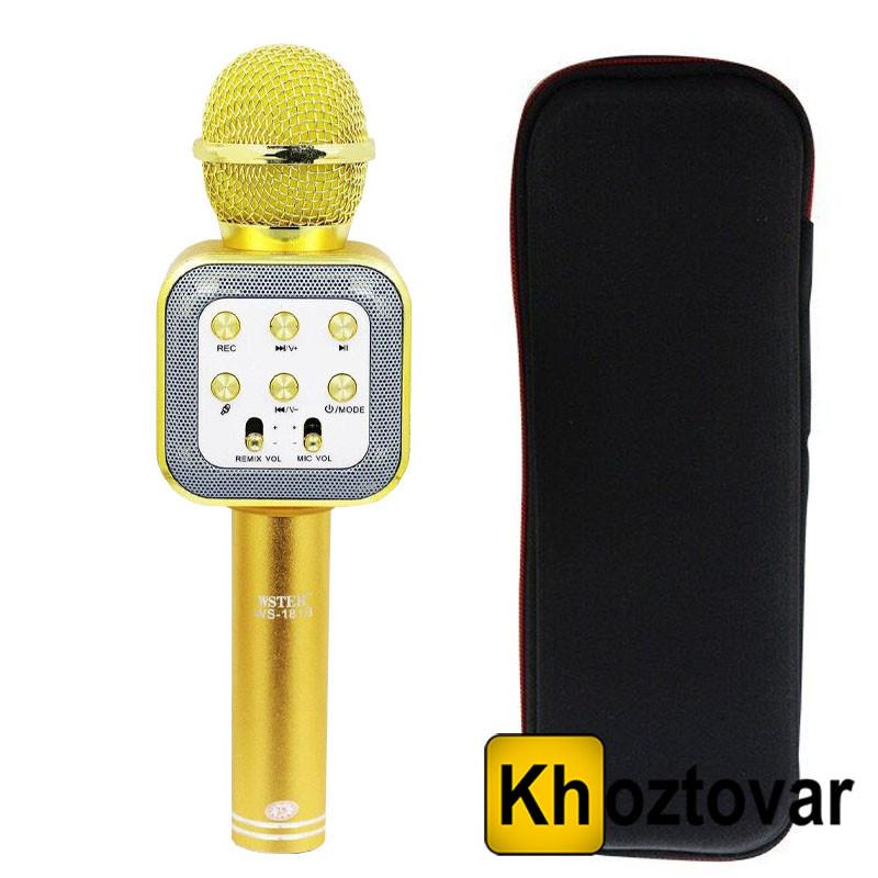Караоке-микрофон с чехлом Wster WS-1818 Bluetooth
