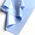 Силиконовый коврик для выпечки антипригарный, большой 62*42 (голубой), фото 3