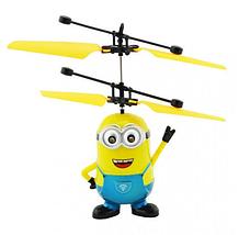 Игрушка летающий миньон вертолет веселая игрушка для детей с подсветкой, фото 3