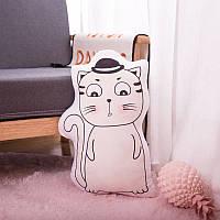 Мягкая игрушка - подушка Задумчивый котик, 50см