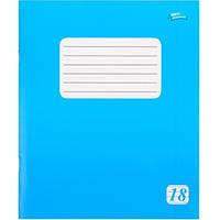 Тетрадь 18 листов, линия, голубая обложка