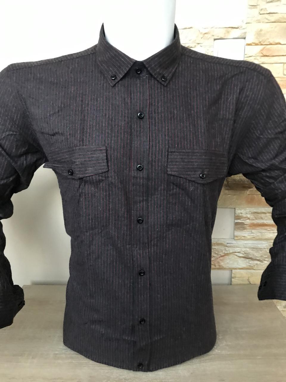 АКЦИЯ!!! Мужская рубашка кашемир Palmen в полоску