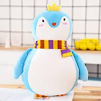 Мягкая красивая игрушка - подушка Голубой пингвин, 50см