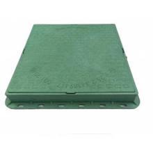 Люк квадратный пластиковый 1т. зеленый