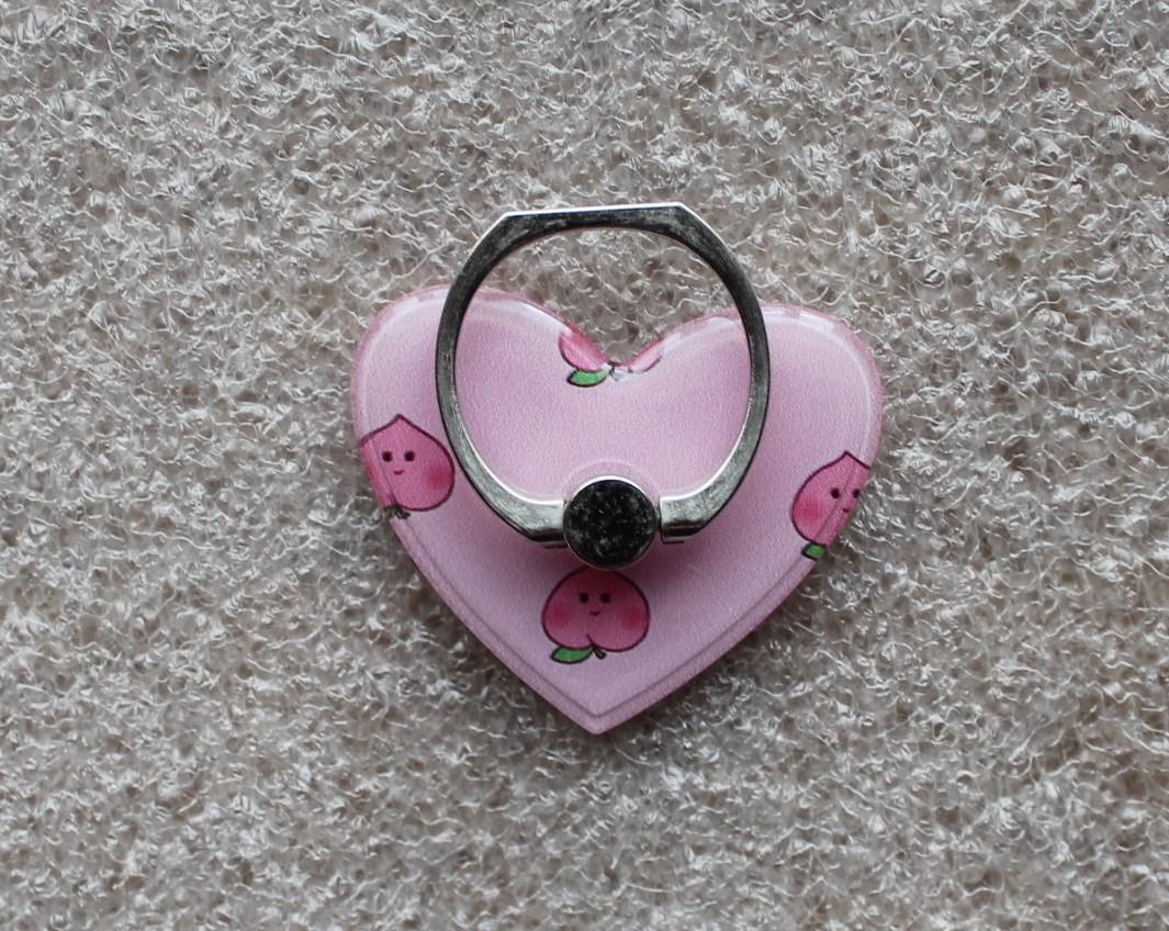 Держатель кольцо для телефона (попсокет / popsocket / подставка) Ring сердце 5