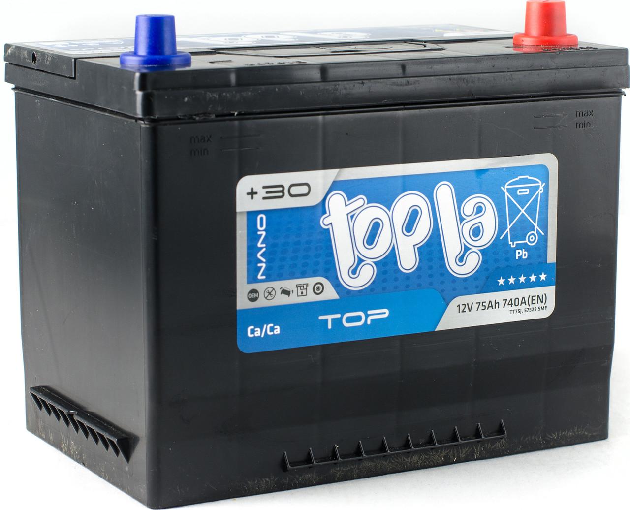 АКБ 6 ст 75 А (740EN) (0) Topla TOP/Energy Japan Евро