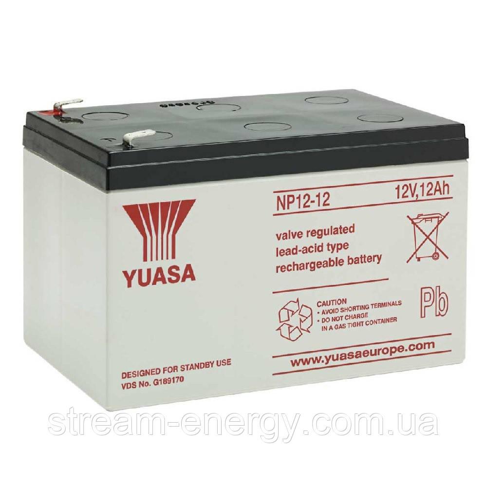 Аккумулятор для ИБП Yuasa (12В - 12Ач) NP12-12