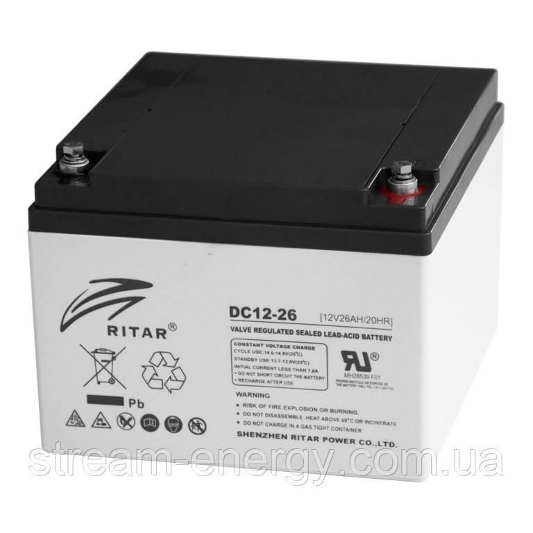 Акумулятор AGM Ritar (12В -26Ач) RT12260