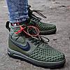 Мужские зимние кроссовки Nike Lunar Force 1 Duckboot хаки теплые термо дакбуты. Живое фото. Реплика