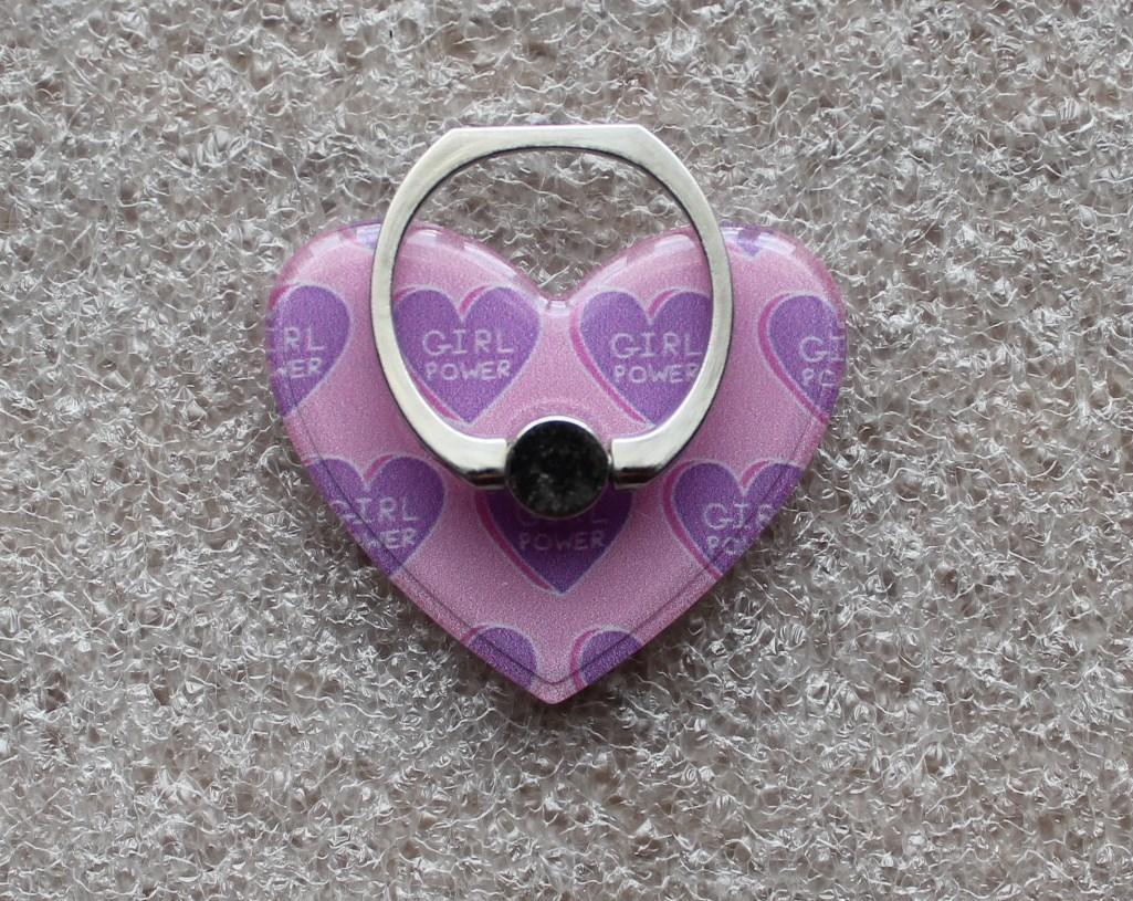 Держатель кольцо для телефона (попсокет / popsocket / подставка) Ring сердце 3