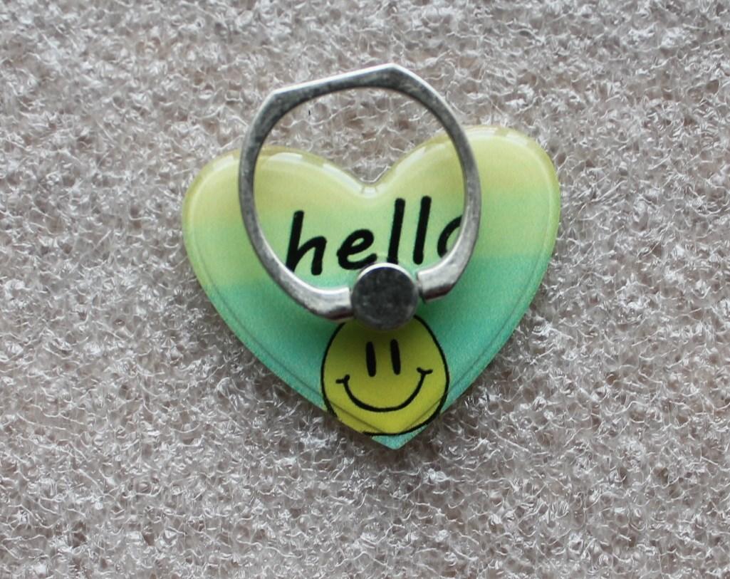 Держатель кольцо для телефона (попсокет / popsocket / подставка) Ring сердце 1