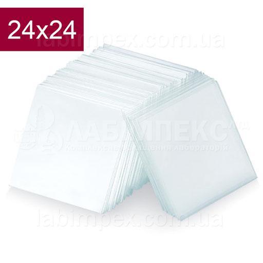 Набор покровных стёкол 24х24 мм - 100 шт